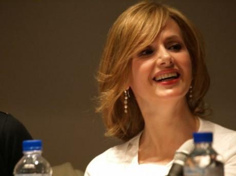 """En la presentación de """"Pétalos de luna"""" en Madrid el 30 de abril de 2013."""