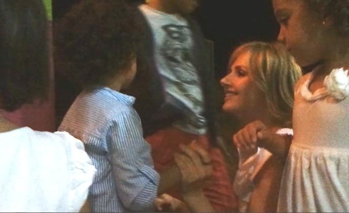 Un instante muy feliz de este verano: estoy con Pablo, con Blanca, con María...