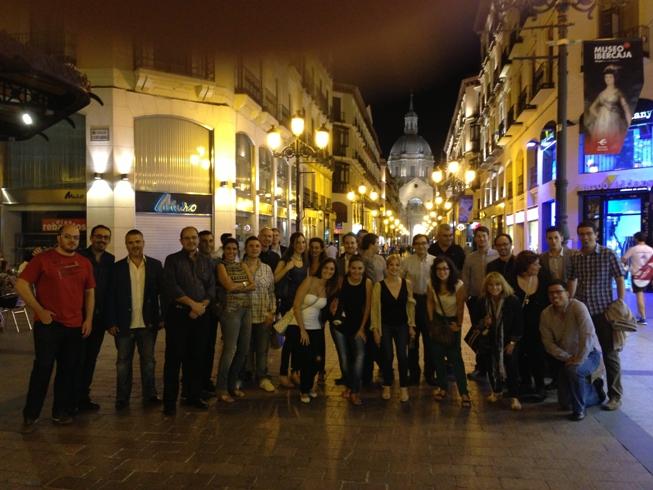 Con delegados y compañeros de Aragón Exterior