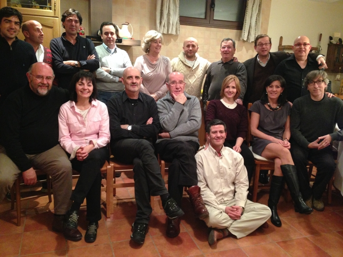 En casa de Mari Carmen y José Luis, en Calamocha. Con los amigos.