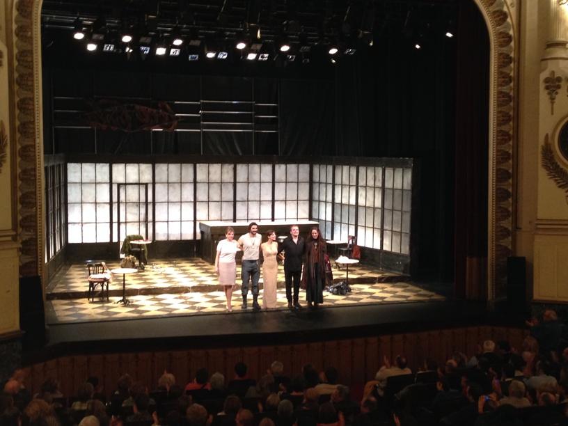 Emma Suarez, Fernando Cayo, Maribel Verdú, Álex Garcia y Ariadna Gil en el Teatro Principal de Zaragoza