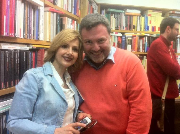 Con Javi Vázquez en la Librería Anónima
