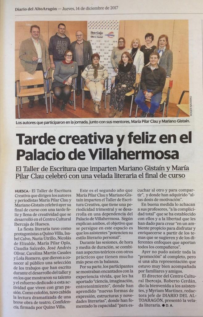 Taller Escritura Creativa Huesca